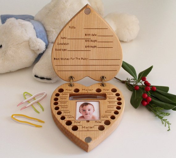 Shop Handmade Holiday Gift Guide: Baby Tooth Box from Greta Oto Design