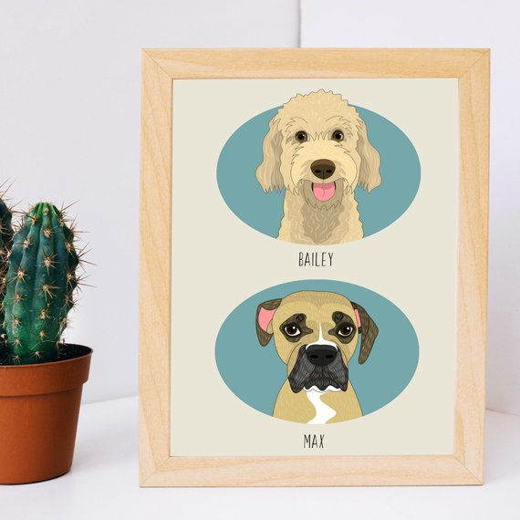 Shop Handmade Holiday Gift Guide: Custom Pet Portraits from Lili DiPrima
