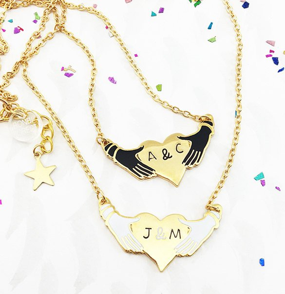Handmade Holiday Gift Guide: Hands and Heart Personalized Necklace from BonbiForest