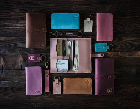 Shop Handmade Holiday Gift Guide: Leather Women's Wallet from So Good So Wood