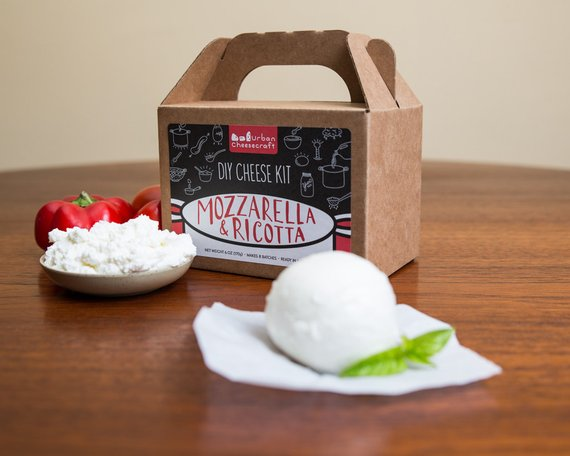 Shop Handmade Holiday Gift Guide: Mozzarella and Ricotta DIY Cheese Kit from Urban Cheese craft