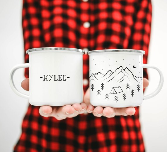 Handmade Holiday Gift Guide: Personalized Camping Mugs from ODYSEA