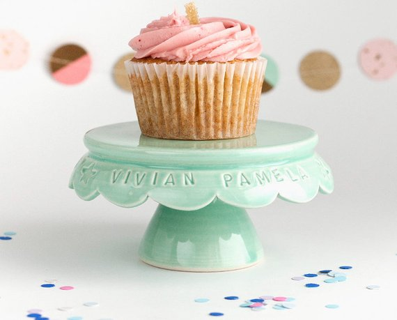 Shop Handmade Holiday Gift Guide: Personalized Cupcake Stand from Jeanette Zeis