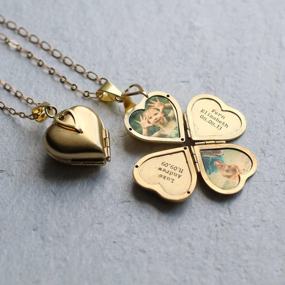 Shop Handmade Holiday Gift Guide: Personalized Photo Locket from Silk Purse Sows Ear