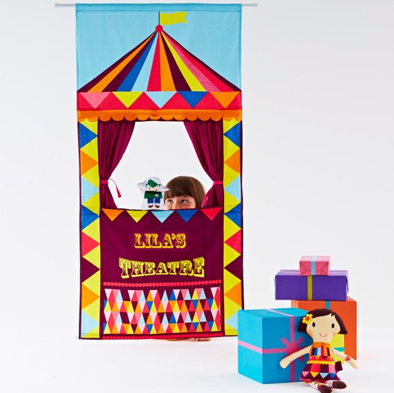 Shop Handmade Holiday Gift Guide: Personalized Puppet Theater from Wild Things Dresses