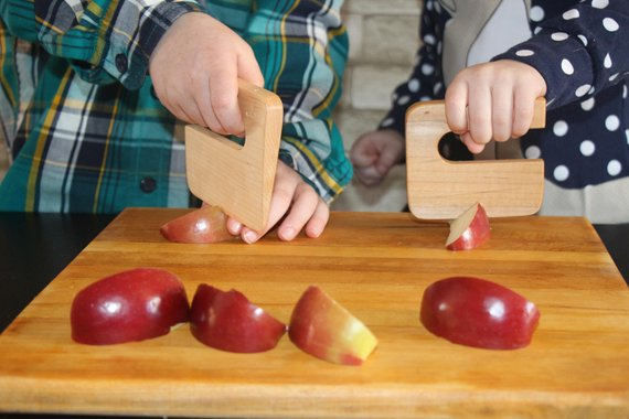 Shop Handmade Holiday Gift Guide: Safe Wooden Children's Kitchen Knife from JUstenbois