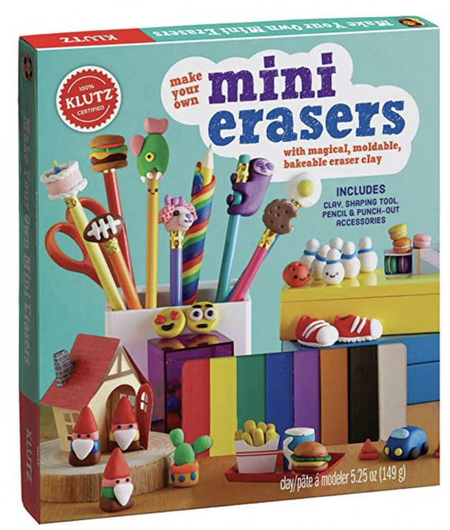 10 Book Recommendations for Creative Kids: Klutz Make Your Own Mini Erasers