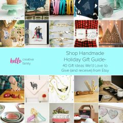 Shop Handmade Holiday Gift Guide- 40 Gift Ideas We'd Love to Give (and receive) from Etsy