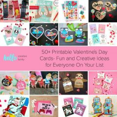 50+ Printable Valentines Day Cards- Fun and Creative Ideas for Everyone On Your List