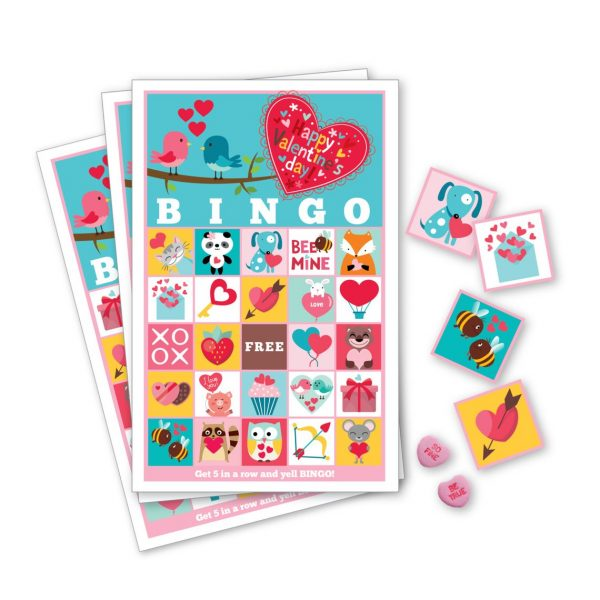 50+ Printable Valentines Day Cards: Adorable Printable Valentine Bingo With 60 Different Cards from Crazy Fox Paper