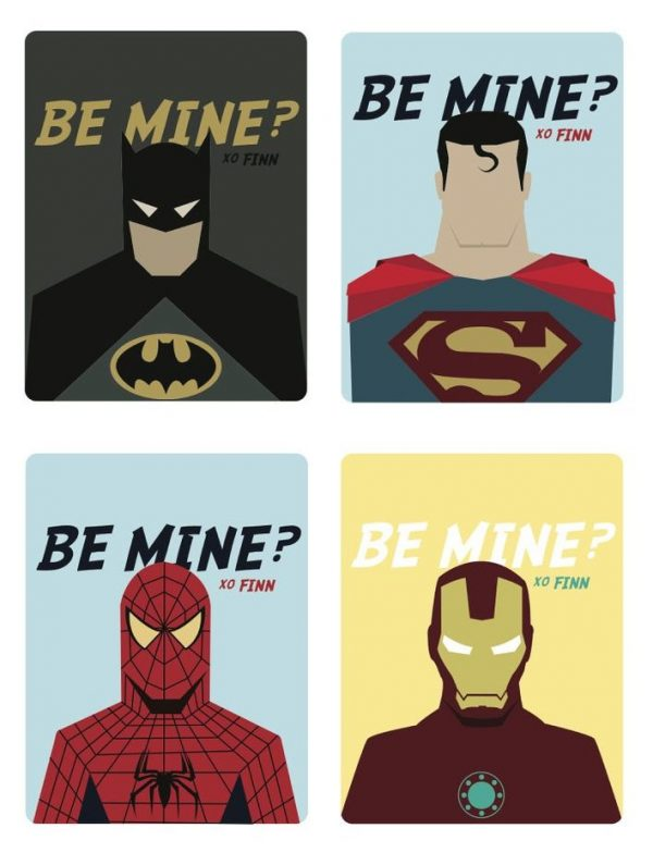 50+ Printable Valentines Day Cards: Custom Superhero Printable Valentines from Pear Print Press