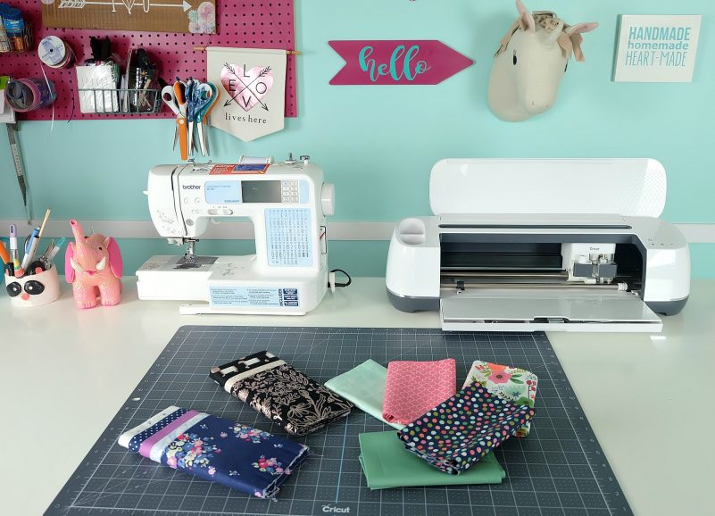 My Cricut Maker and sewing machine are best buddies! I use them hand in hand to make a ton of easy handmade gifts.