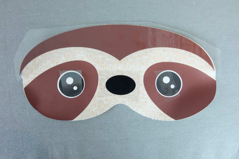 15 Minute DIY Sloth Sleep Mask Sewing Tutorial A Fun Project Using Your Cricut Maker or Cricut Explore. #Sewing #CricutMaker #Cricut #Sloth