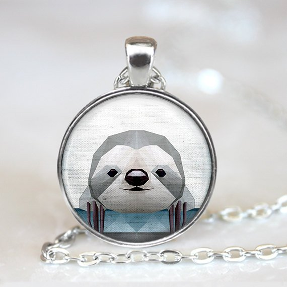 Sloth Crafts, Printables, SVG's DIY's, Food and Gift Ideas: Geometric Sloth Pendant from Art Plus Pendants