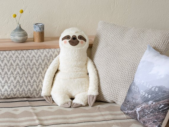 Sloth Crafts, Printables, SVG's DIY's, Food and Gift Ideas: Handmade Sloth Hot Water Bottle Cover from Petiti Panda