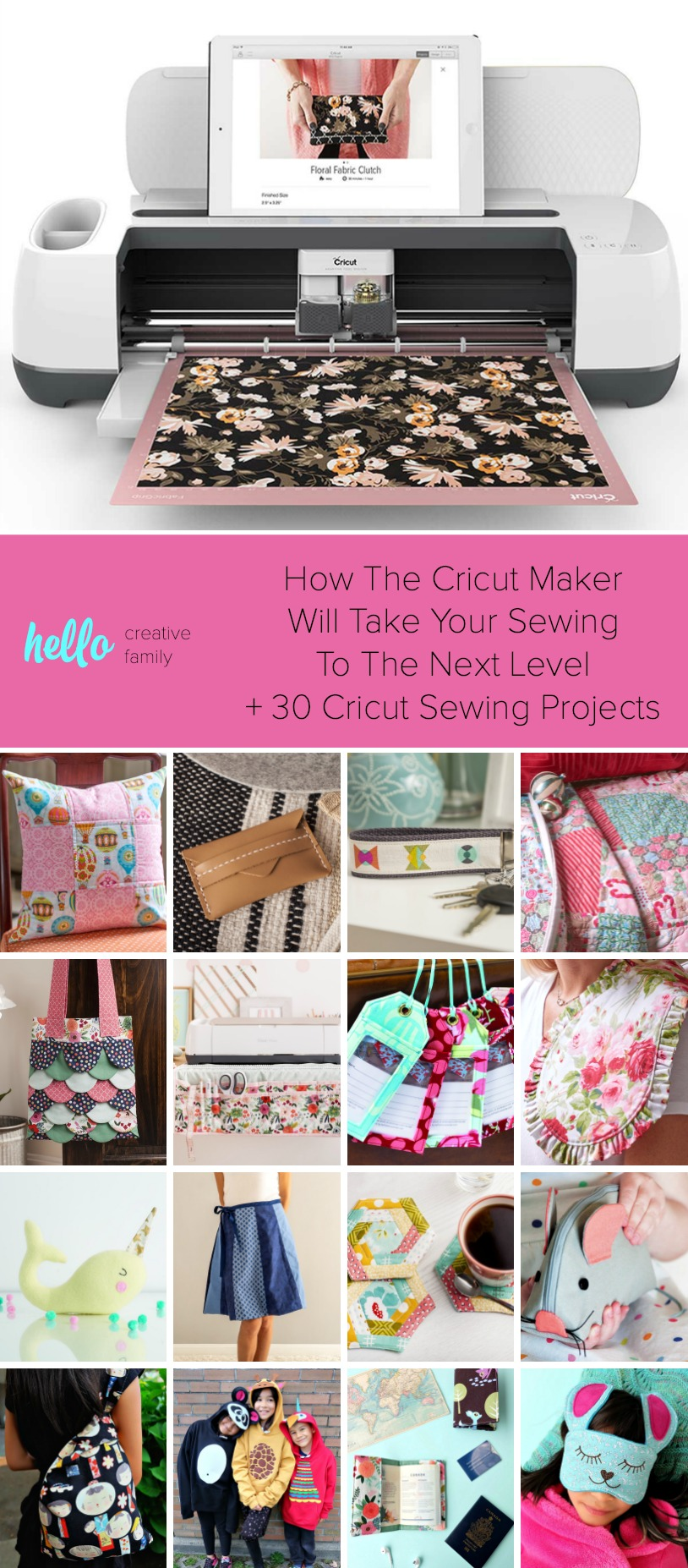 How The Cricut Maker Will Take Your Sewing To The Next Level + 30 Cricut Sewing Projects #Cricut #CricutMade #Sewing #CricutProjects