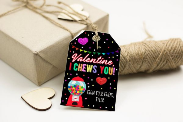 50+ Printable Valentines Day Cards: I Chews You Gumball Machine Printable Valentine Card from Vada Marie Designs