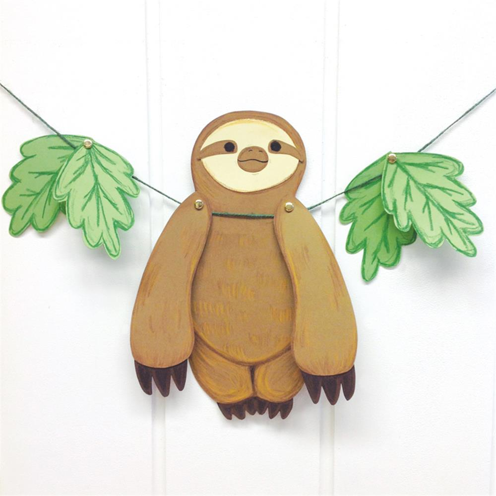Sloth Crafts, Printables, SVG's DIY's, Food and Gift Ideas: Paper Hanging Sloth With Free Template from Claver Patch