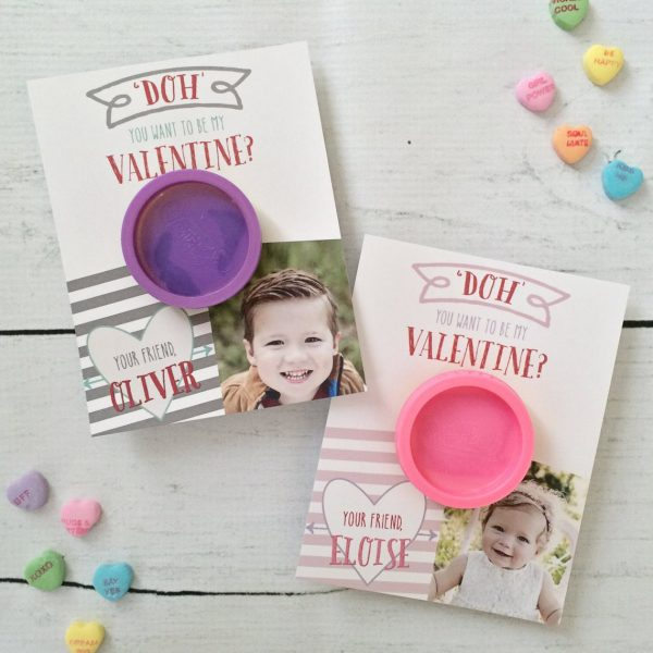 50+ Printable Valentines Day Cards:Personalized Printable Play Dough Valentines From Ollie and Lulu