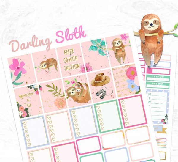 Sloth Crafts, Printables, SVG's DIY's, Food and Gift Ideas: Printable Sloth Planner Stickers from La Vie Prints