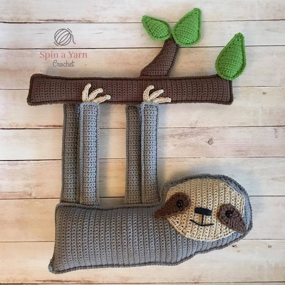 Sloth Crafts, Printables, SVG's DIY's, Food and Gift Ideas: Ragdoll Sloth Free Crochet Pattern From Spin A Yarn Crochet