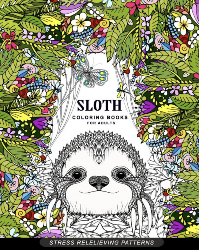 Sloth Crafts, Printables, SVG's DIY's, Food and Gift Ideas: Sloth Coloring Book