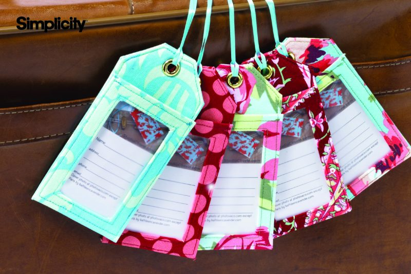 Simplicity Luggage Tags Easy Project 30 Minutes-1 Hour