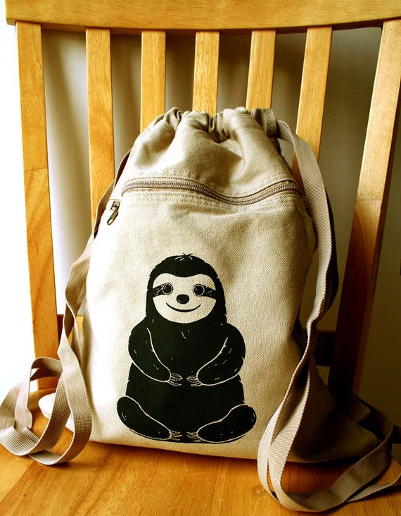 Sloth Crafts, Printables, SVG's DIY's, Food and Gift Ideas: Sloth Backpack from The Curious Catbird