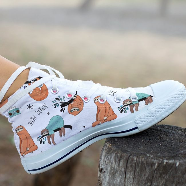 Sloth Crafts, Printables, SVG's DIY's, Food and Gift Ideas: Sloth High Tops from Big Bear Lake Gear