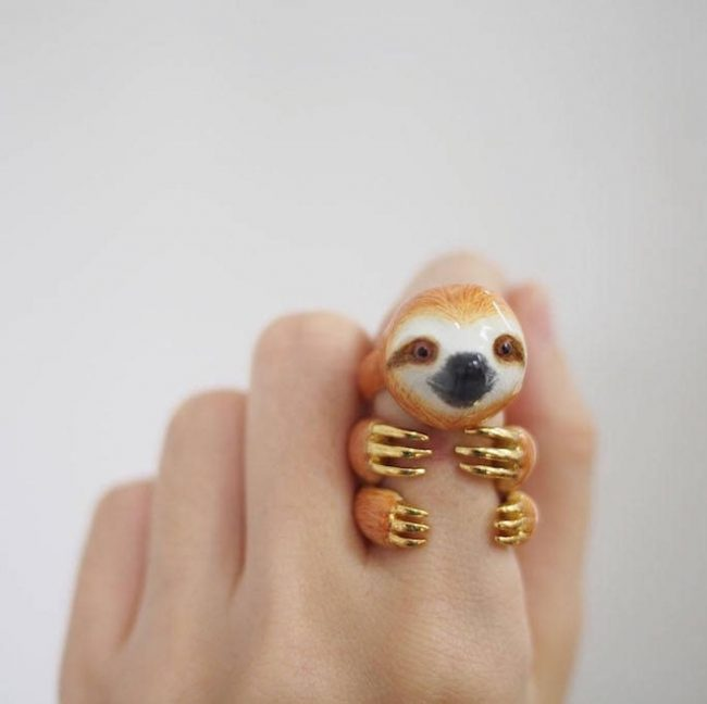 Sloth Crafts, Printables, SVG's DIY's, Food and Gift Ideas: Sloth Stacking Ring from Mary Lou Jewelry Store