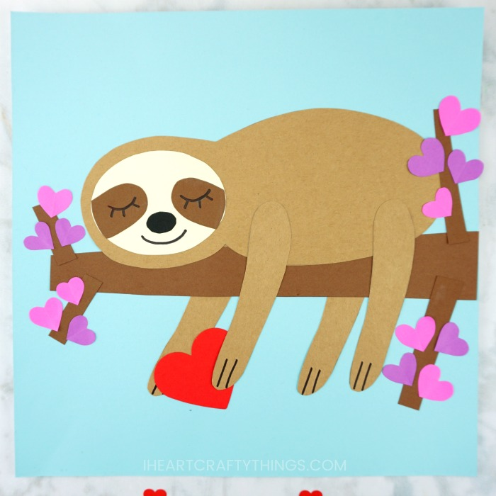 Sloth Crafts, Printables, SVG's DIY's, Food and Gift Ideas: Sloth Valentine Collage from I Heart Crafty Things