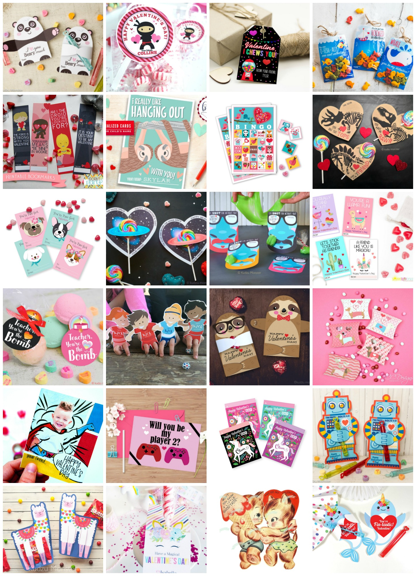 50 Printable Valentines Day Cards Fun And Creative Ideas For Everyone On Your List