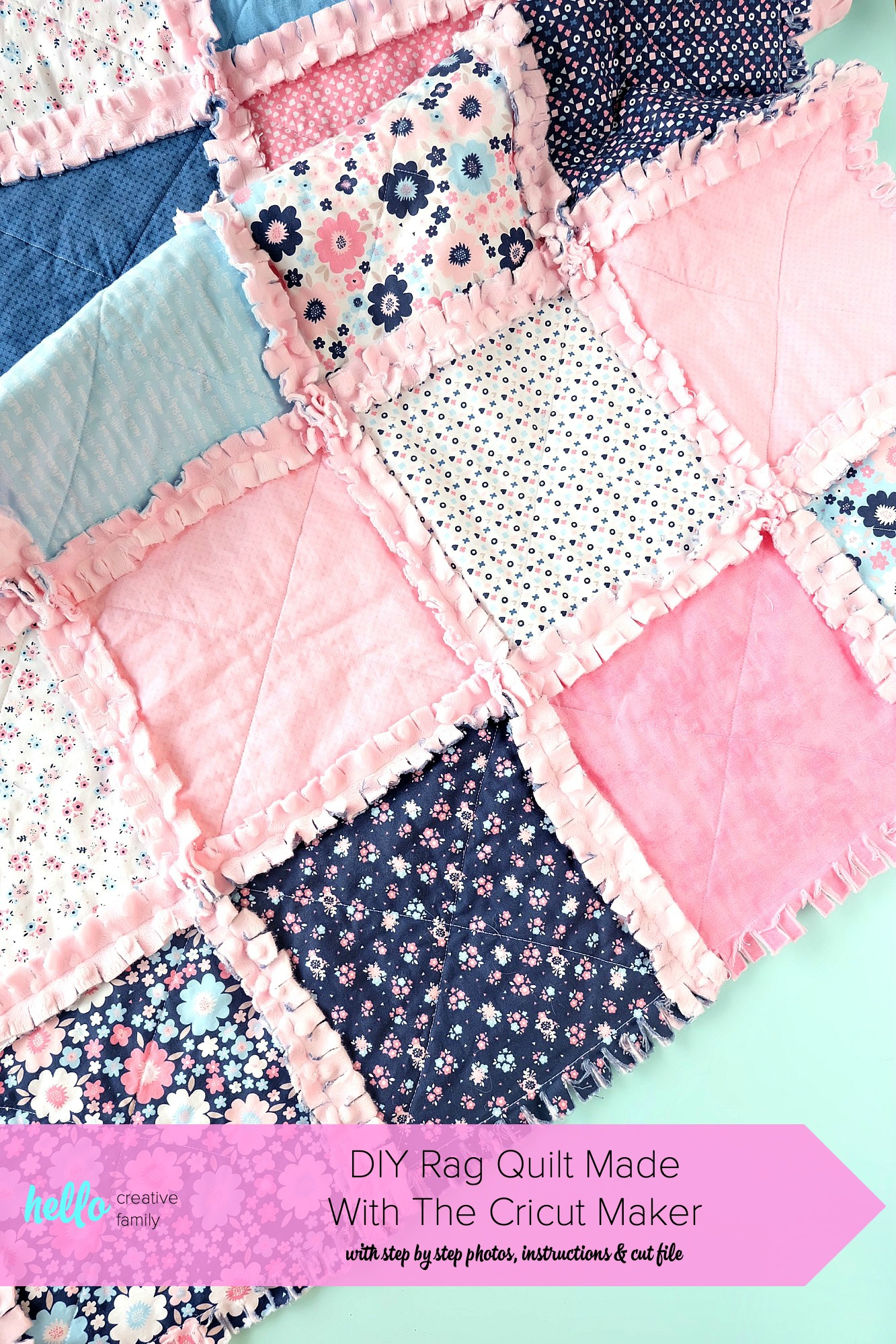 Diy Rag Quilt Made With The Cricut Maker With Step By Step