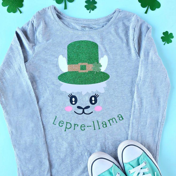 Lepre-llama DIY St Patricks Day Shirt Made With The Cricut Maker