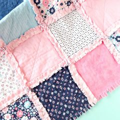 DIY Rag Quilt Made With The Cricut Maker With Step By Step Photos, Instructions and Cut File