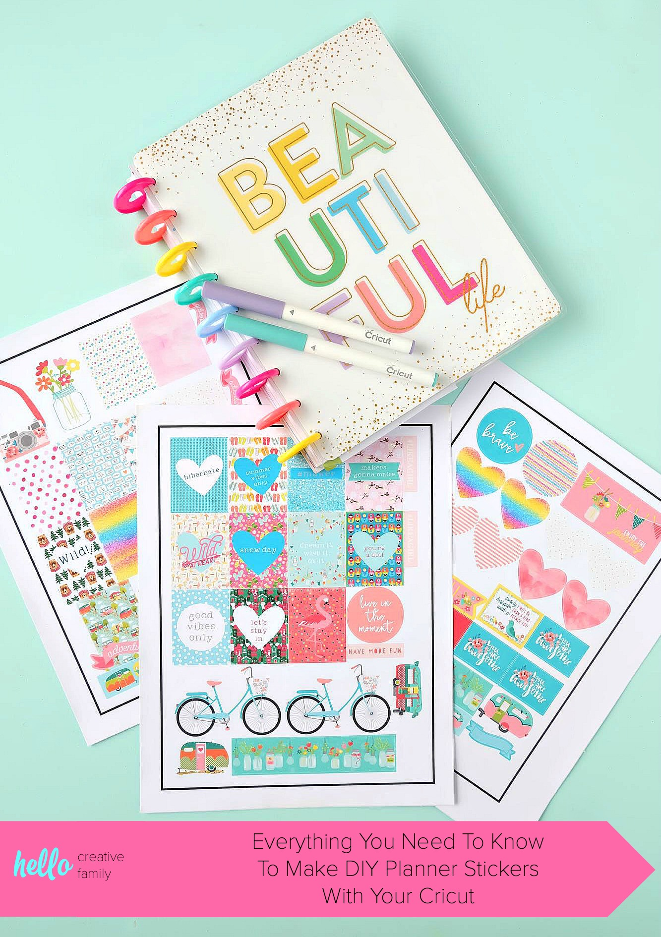 Everything you need to know how to make gorgeous custom diy planner stickers using your cricut