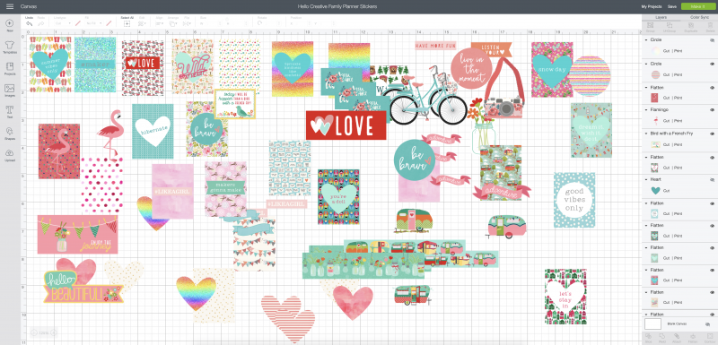 How To Make DIY Planner Stickers With Your Cricut- Step By Step