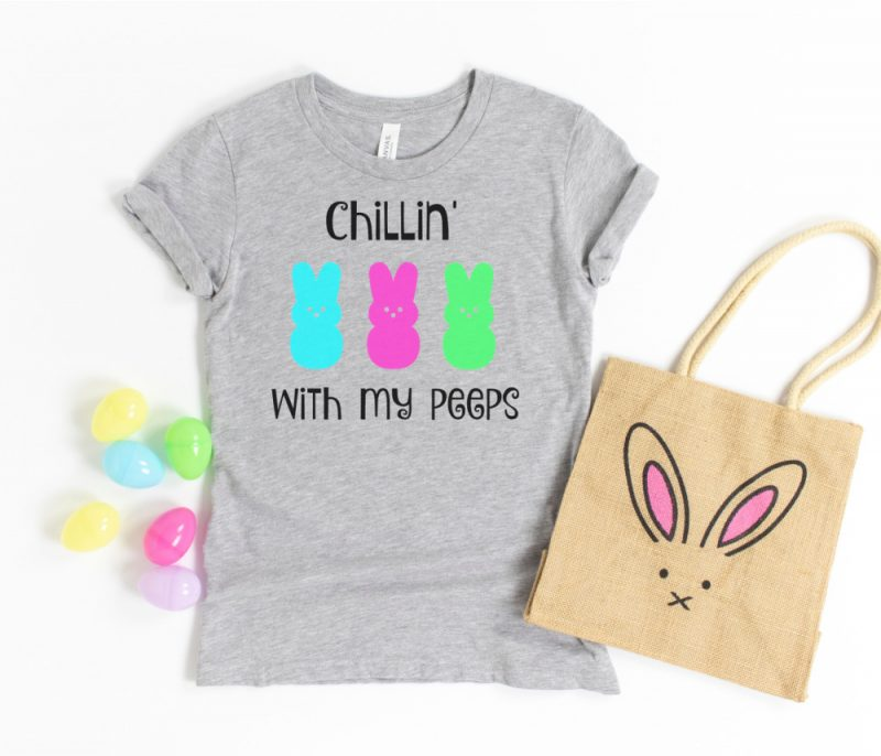 DIY Chillin With My Peeps Shirt Free SVG File