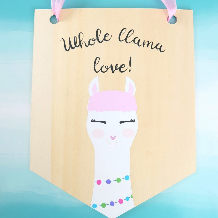 DIY Llama Wood Wall Hanging Made With The Cricut Maker