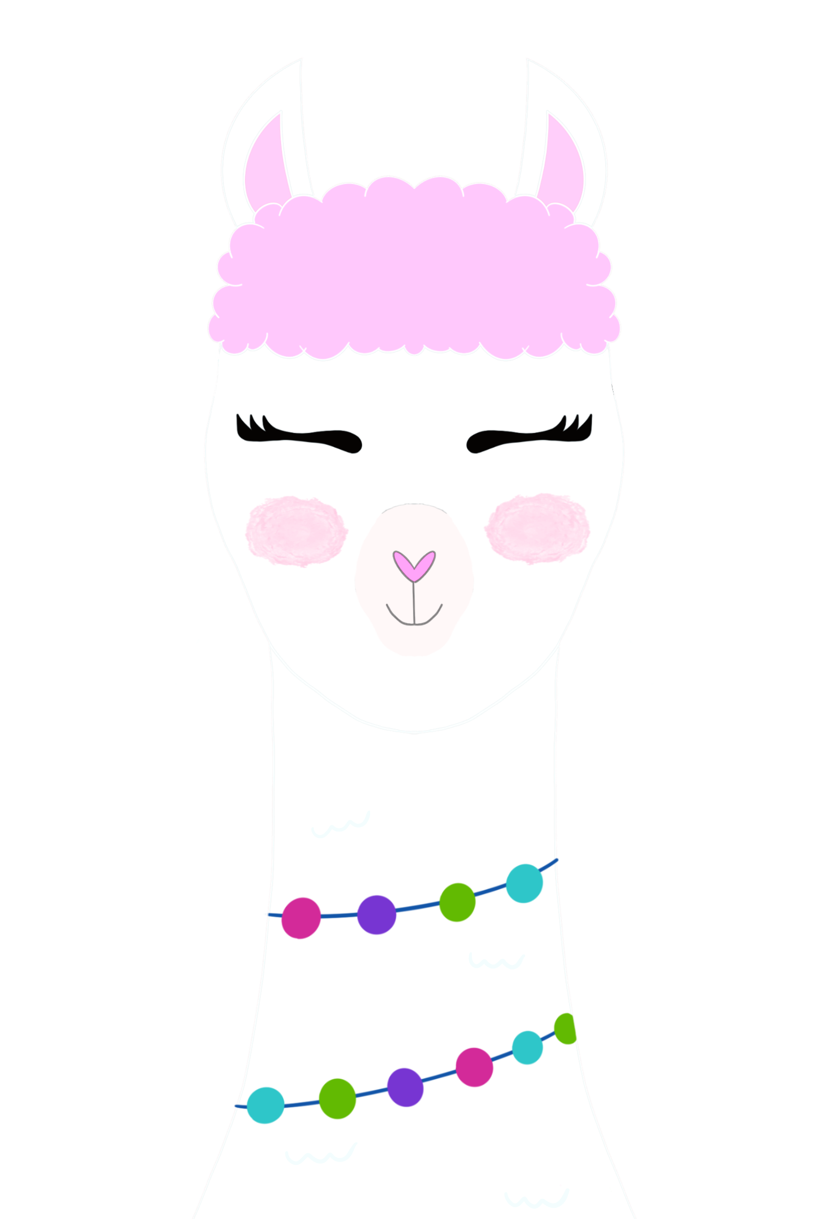 Llama artwork from Hello Creative Family. #llama #drawing