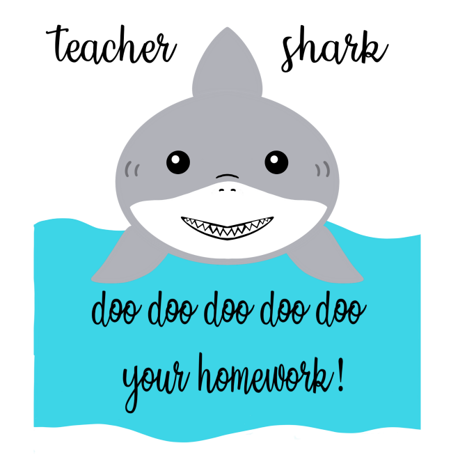 Free Teacher Shark SVG File- Cut this free design with your Cricut or SIlhouette for an adorable handmade teachers gift!