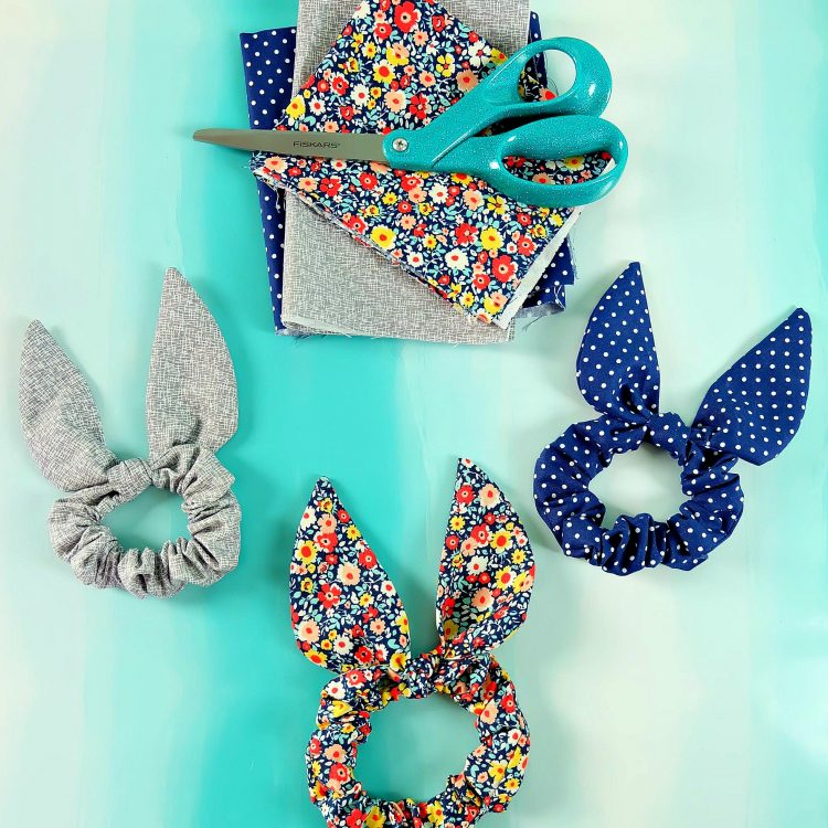 Easy 10 Minute Bunny Ear Scrunchy Sewing Tutorial – With Free SVG To Cut Fabric With Your Cricut Maker