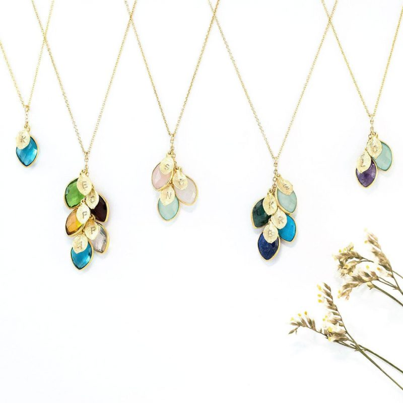 Shop Handmade Mother's Day Gift Ideas For Mom: Family Birthstone Necklace from Delezhen