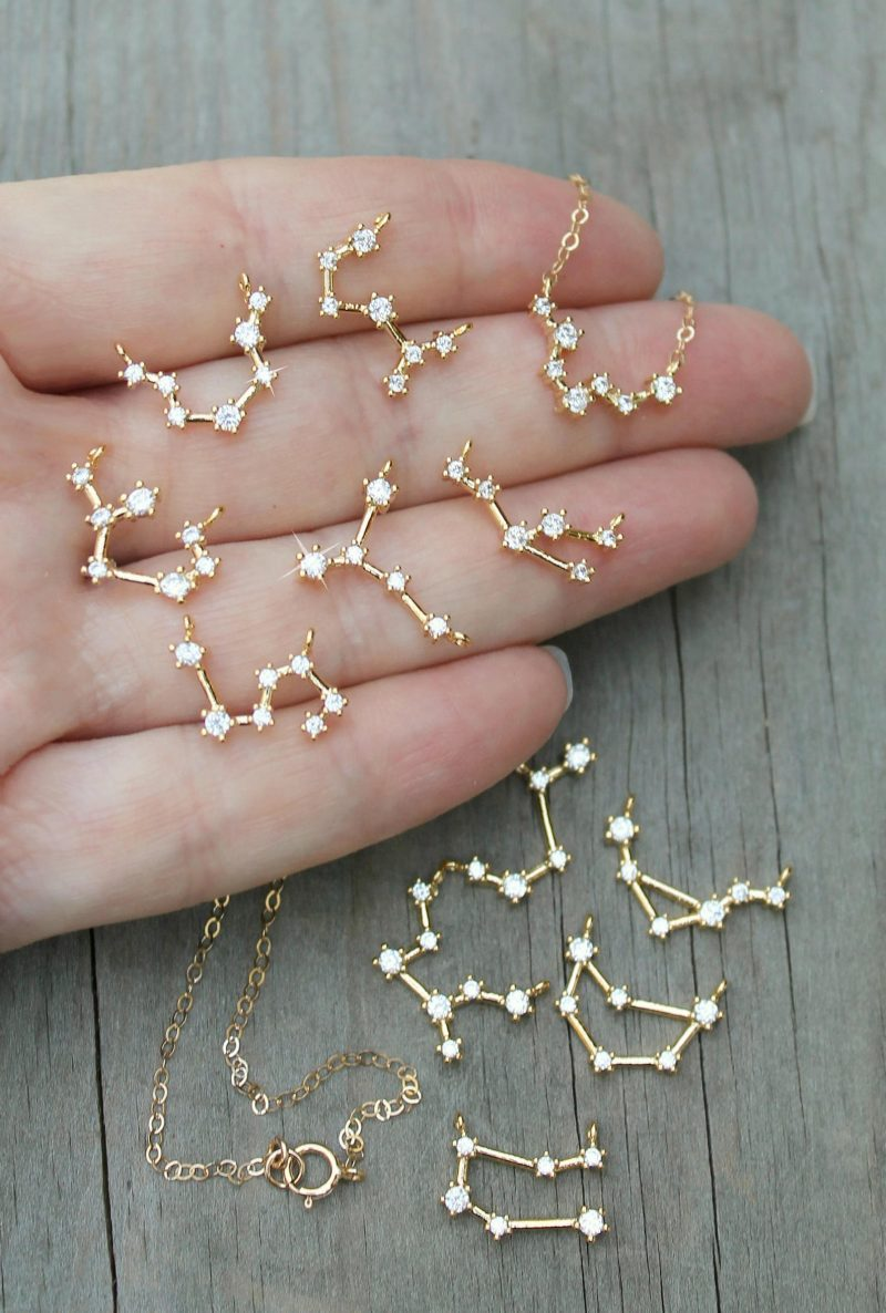 Shop Handmade Mother's Day Gift Ideas For Mom: Horoscope Constellation Necklace from Potion Number 9