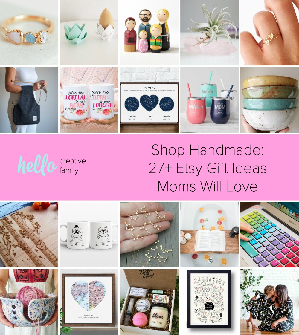 Shop Handmade 27 Gift Ideas Moms Will Love Hello Creative Family