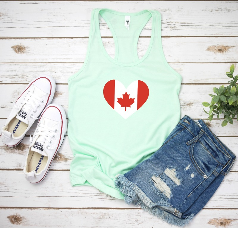 We're sharing 16 Free Canada Day and Fourth Of July SVG Cut Files including our very own Canadian Flay and US Flag Heart cut files. So pull out those Cricuts and Silhouettes and craft up an easy project! Whether you are Canadian or American we've got the patriotic SVG files you need for an awesome July! #Cricut #Silhouette #CanadaDay #FourthOfJuly #SVG