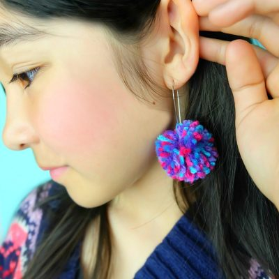DIY Pom Pom Earrings + Learn How To Make a DIY Pom Pom Maker!