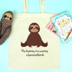 Free Summer Break Sloth Cut File + How To Use Cricut Print & Cut