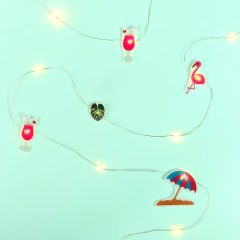 DIY Summer Flamingo Fairy Lights- Made With Shrink Plastic