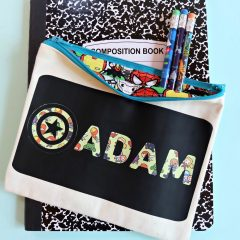 DIY Avengers Pencil Pouch Made With Cricut Maker- Perfect For Back To School